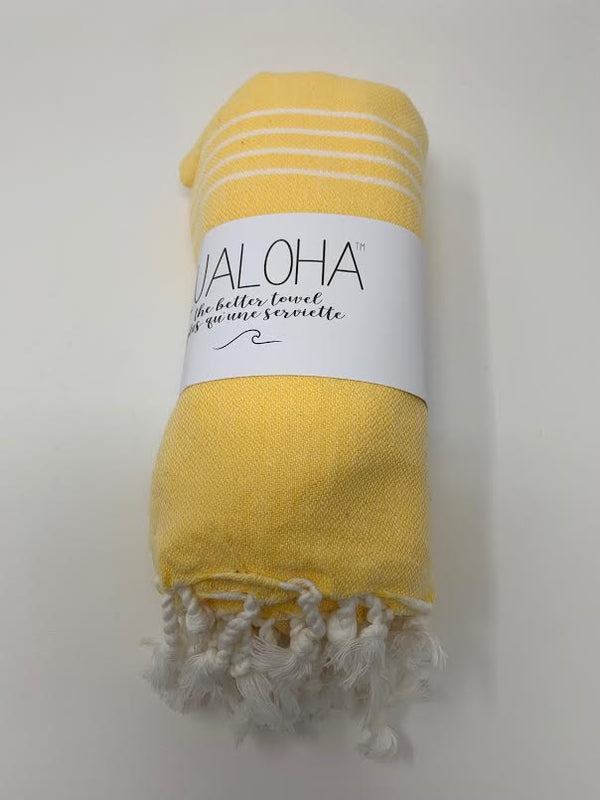 Lualoha Classic Collection  Yellow Turkish Towel