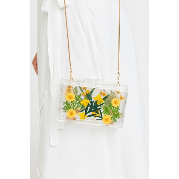 Floral Box Bag - Yellow Daisy