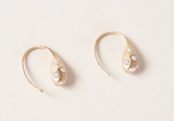 Half United Amelia Pearl Drop  Earring