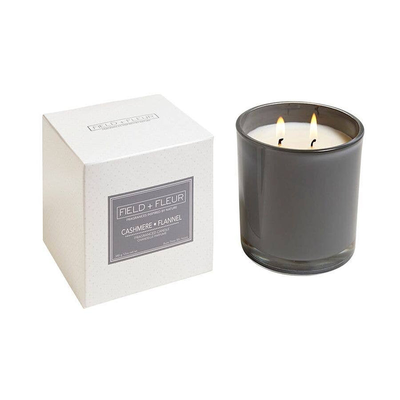 Hillhouse Naturals Cashmere Flannel 2-Wick Candle in Color Glass