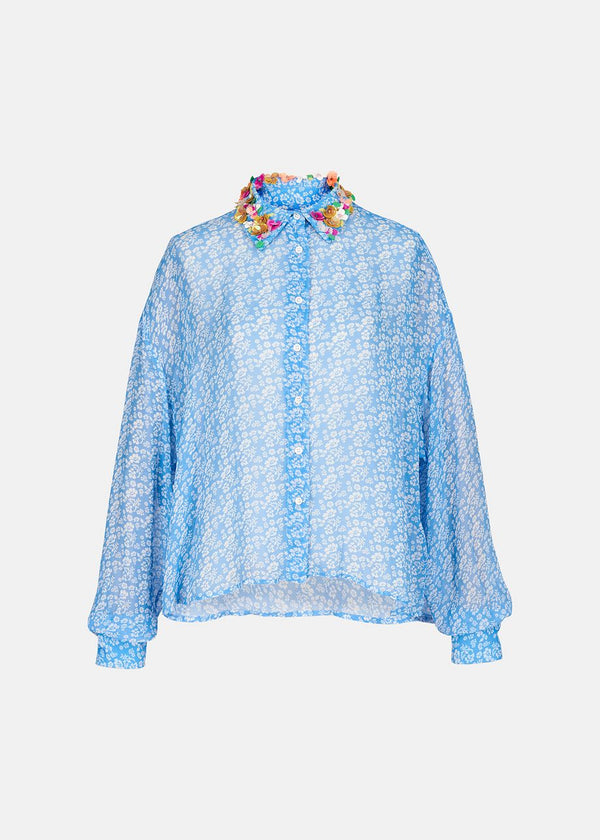 Essentiel Antwerp Embroidered Collared Blouse
