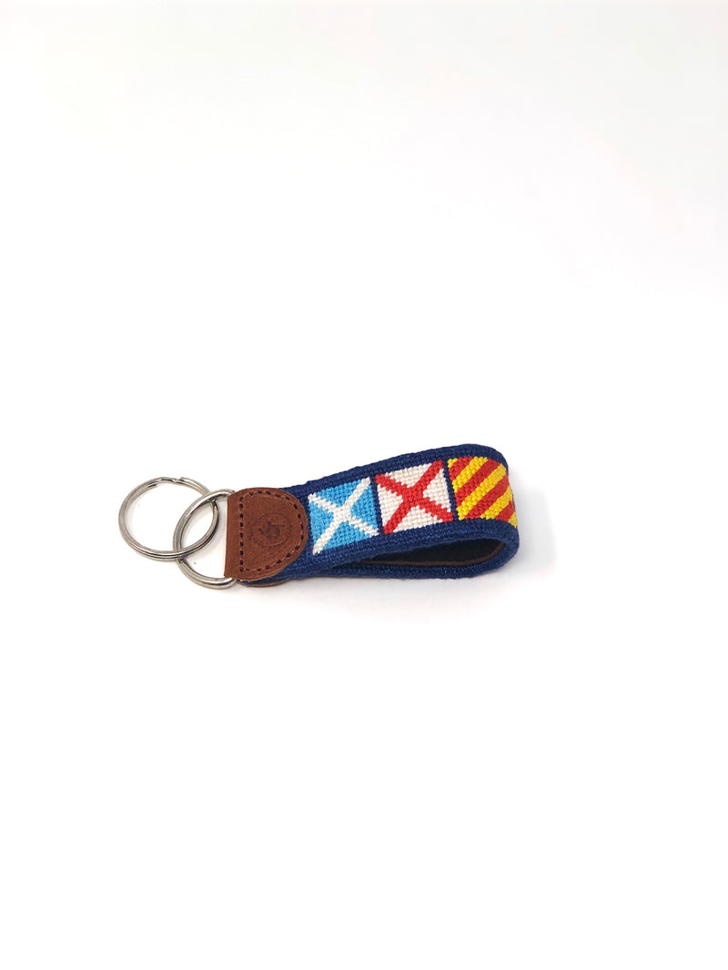 Good Threads MVY Signal Flag Keychain, navy, O/S