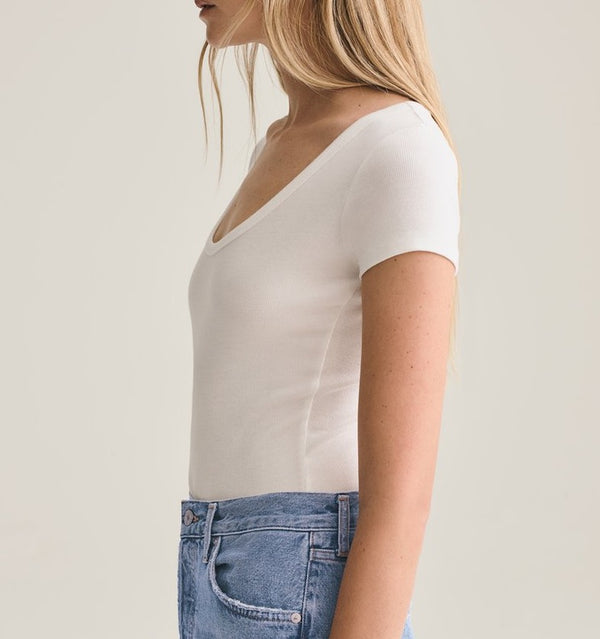 AGOLDE Ribbed Short Sleeve Bodysuit