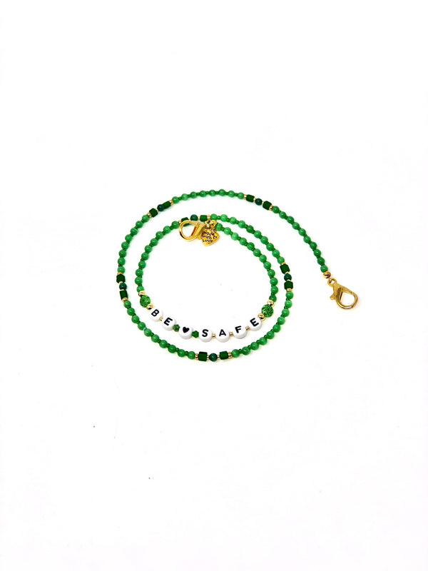 'Be Safe' Mask Chain - Green
