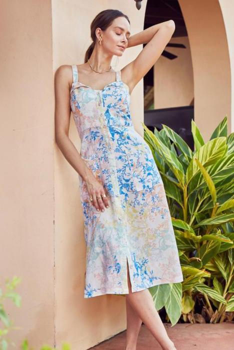 Hunter Bell Floral Birdie Midi Dress