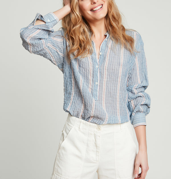 Hartford Cody Button Up - Stripe