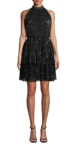 Shoshanna Hollybrook Dress, Jet, 4