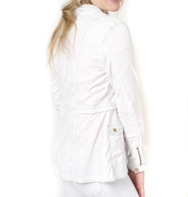 Jakett Camila Cotton Percale Long Cargo Jacket