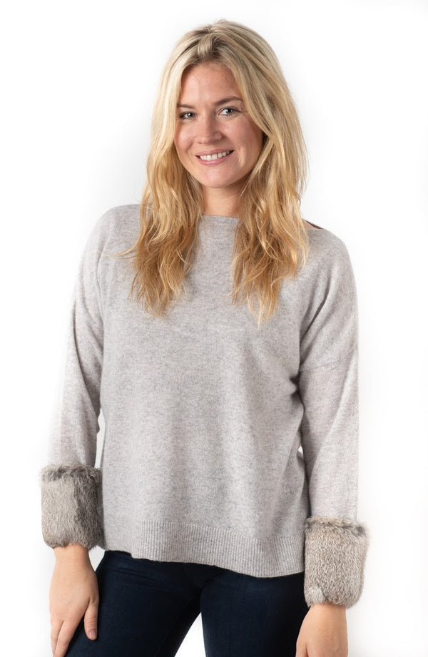 Cortland Park Fur Cuff Sweater