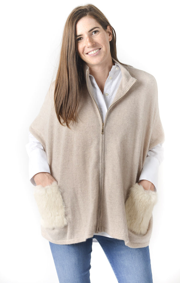 Cortland Park Fur Pocket Cape