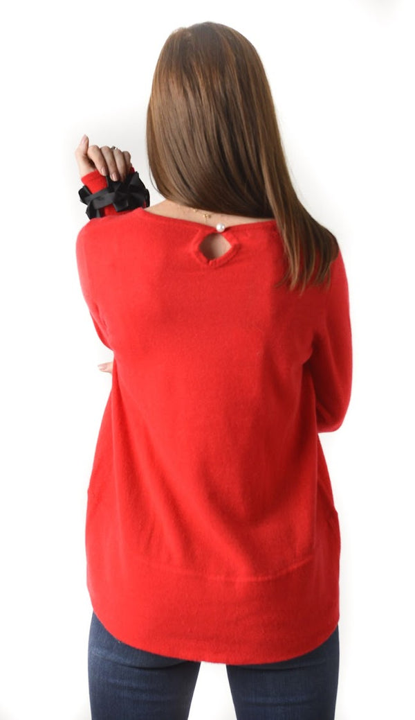 Cortland Park Ribbon Cuff Sweater