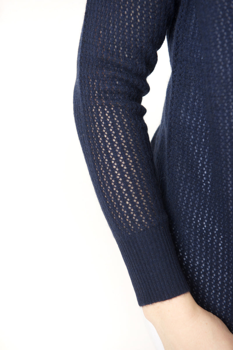 Cortland Park Perforated Cardigan