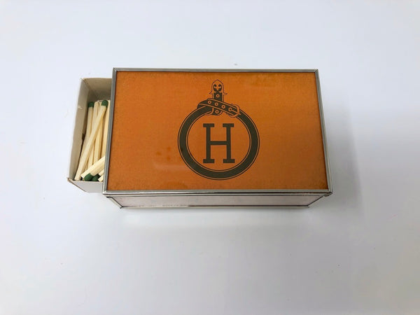 JM Piers Orange H Matchbox Cover