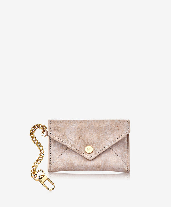 Gigi Mini Envelope with Chain - gold brushed