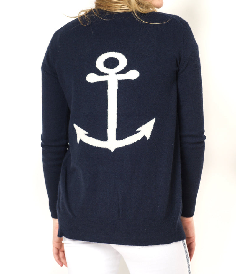 Cortland Park Anchor Back Cardigan