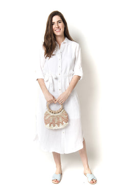 Finley Alex Washed Linen Long Shirtdress