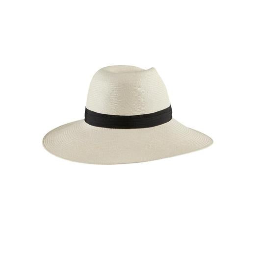 Helen Kaminski Aiko Wide Brim Hat - Chalk/Mightnight