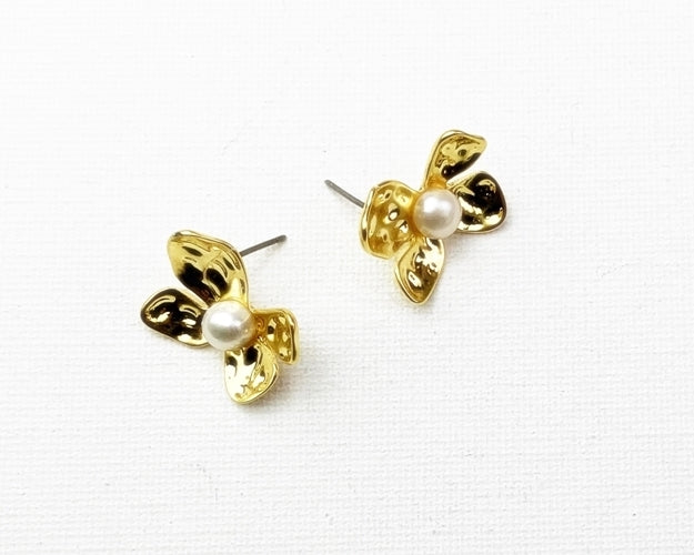 Nahmu Flower w/ Pearl - Mini - Gold