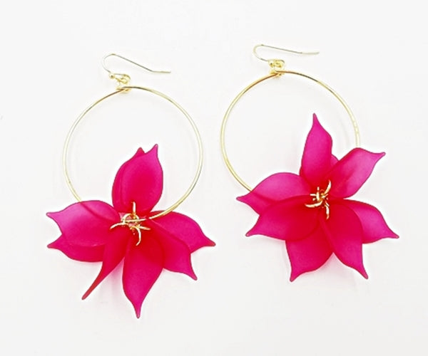 Katama In The Afternoon Hoops - Fuschia