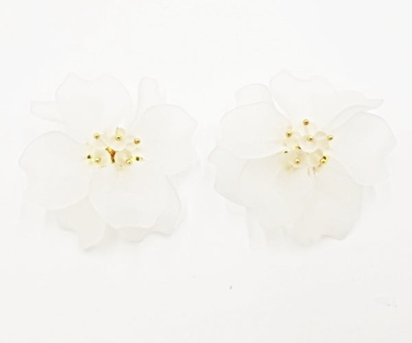 Bloom Studs - White