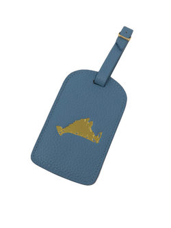 Boulevard Amelia Leather Luggage Tag - Sky Vineyard
