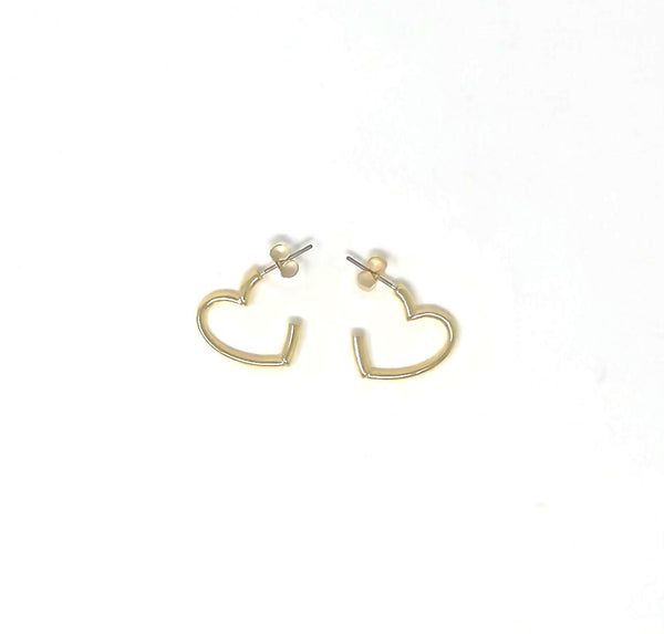 Nahmu Gold Heart Hoop