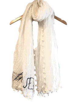 Benaras by Citrus Take Me To The Sea Scarf - White/navy