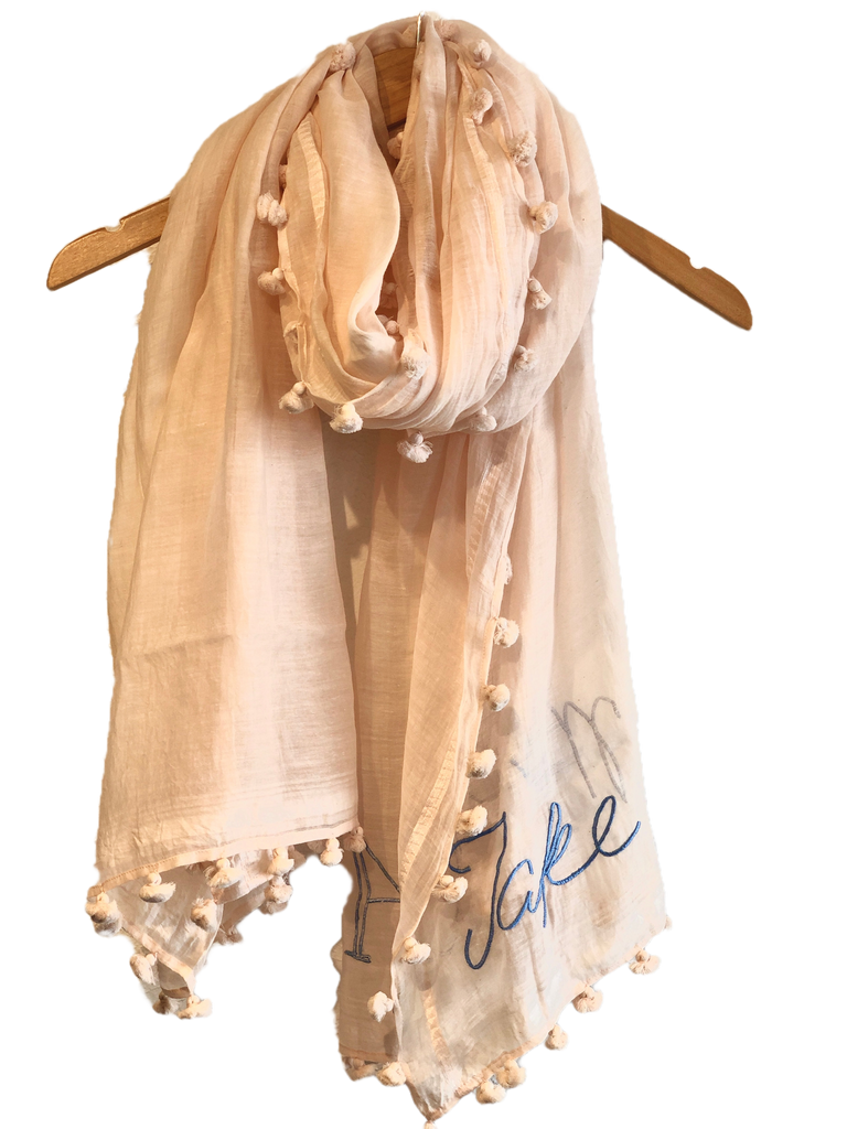 Benaras by Citrus Take Me To The Sea Scarf - Pink/blue