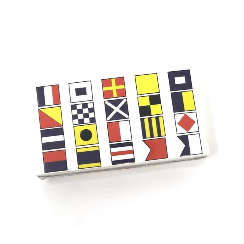 "Joy of Light Matte Embossed 4"" Matchbox, Nautical Signal Flags, O/S"