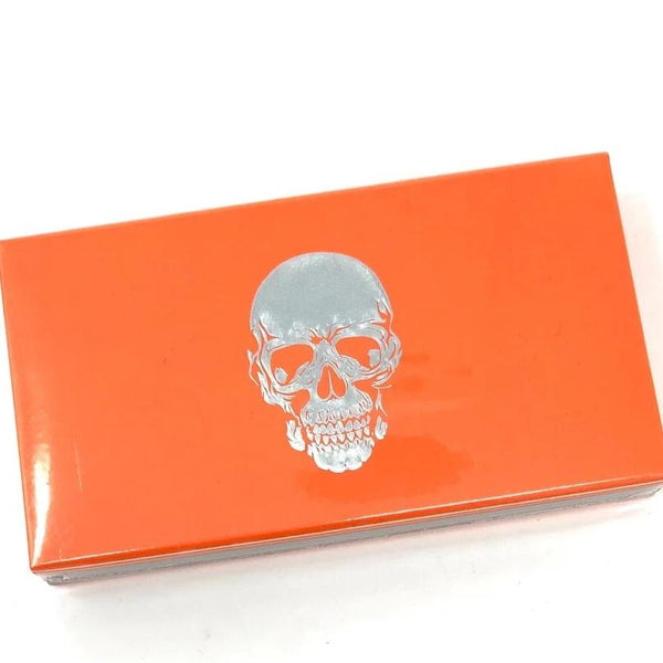 Joy of Light Silver Foiled and Embossed Skull Matchbox