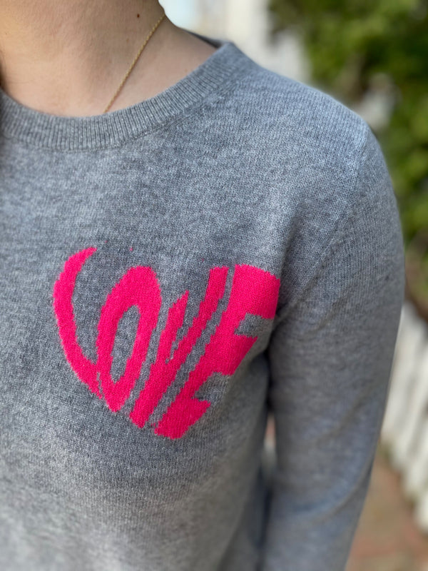 Jumper 1234 Love Heart Crew Neck Sweater