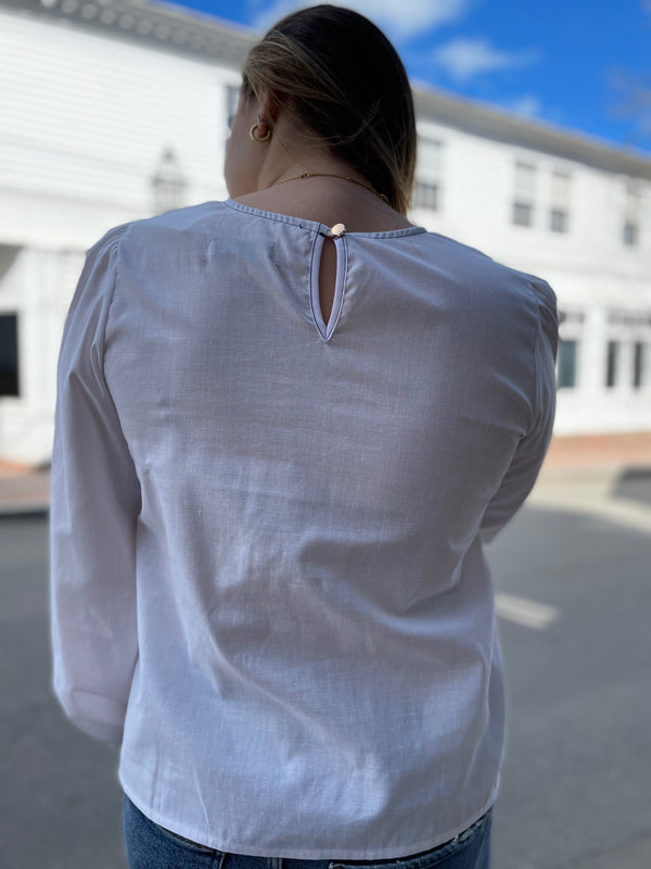 Never A Wallflower Jewel Twill Top