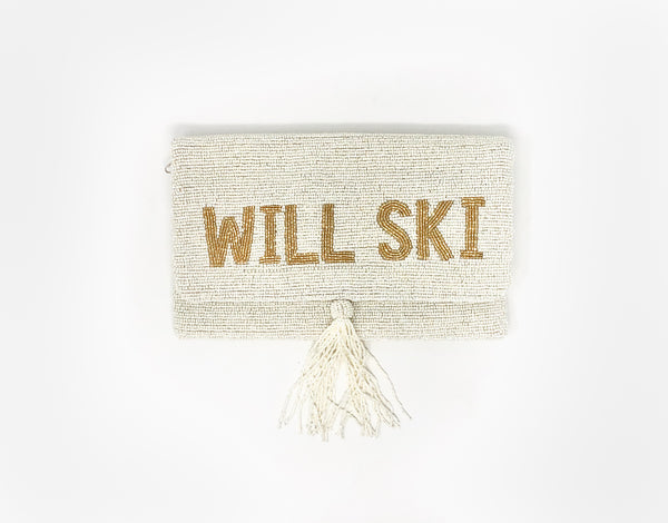 Moyna Will Ski for Cocoa Clutch - White/Gold