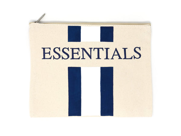 Canvas Pouch with Hand Painted ESSENTIALS