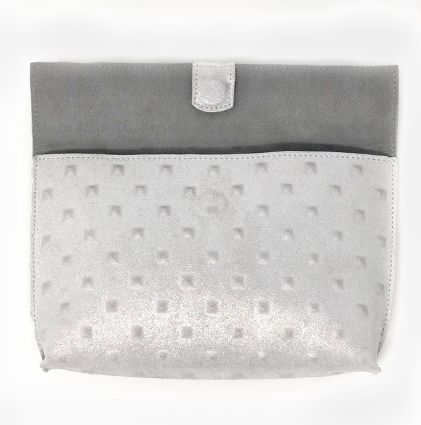 Metallic Fold-over Clutch
