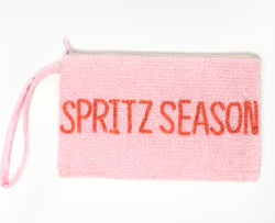 "Moyna ""Spritz Season"" Wristlet - Light Pink/Orange"