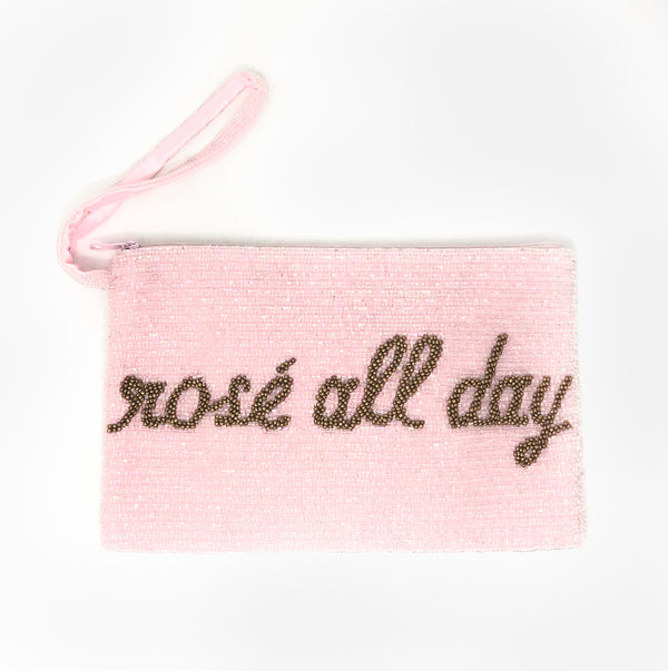 Moyna Rosé All Day Wristlet - Light Pink/Gold