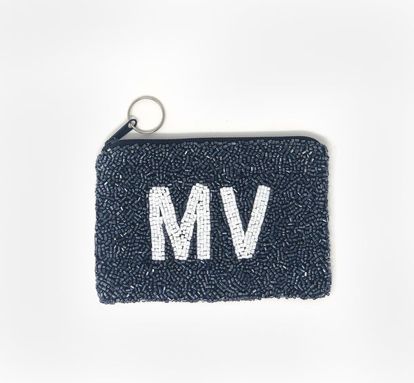 Moyna Island Coin Purse - Navy/White