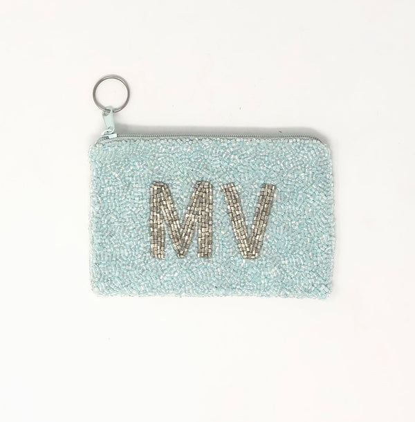 Moyna Island Coin Purse - Light Blue/Silver