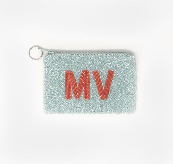 Moyna Island Coin Purse - Light Blue/Orange
