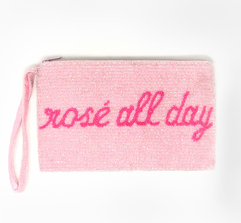 Moyna Rosé All Day Wristlet - Light Pink/Fuschia