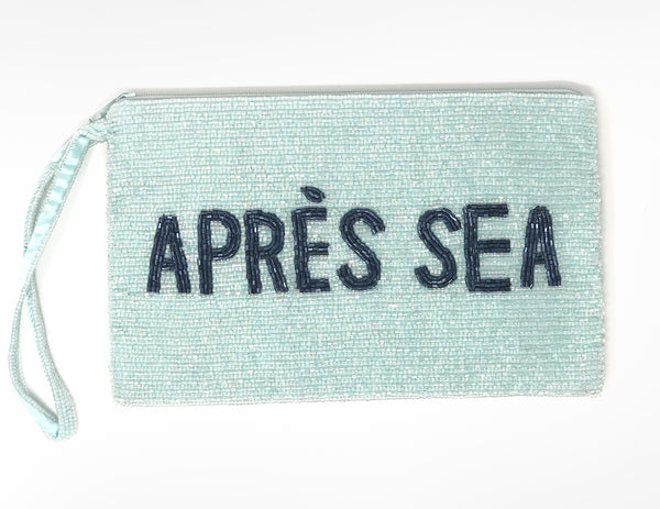 "Moyna ""Après Sea"" Wristlet - Light Blue/Navy"
