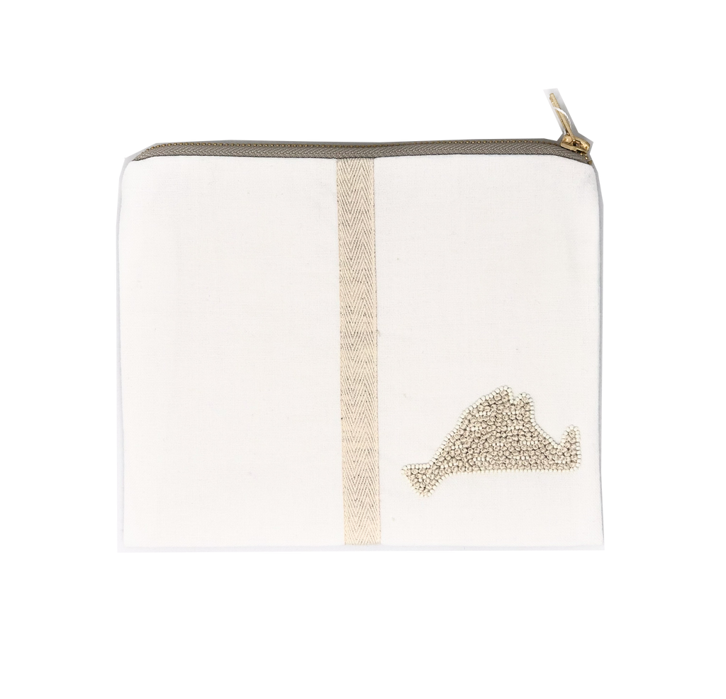 Citrus MV Pouch with Stripe - White