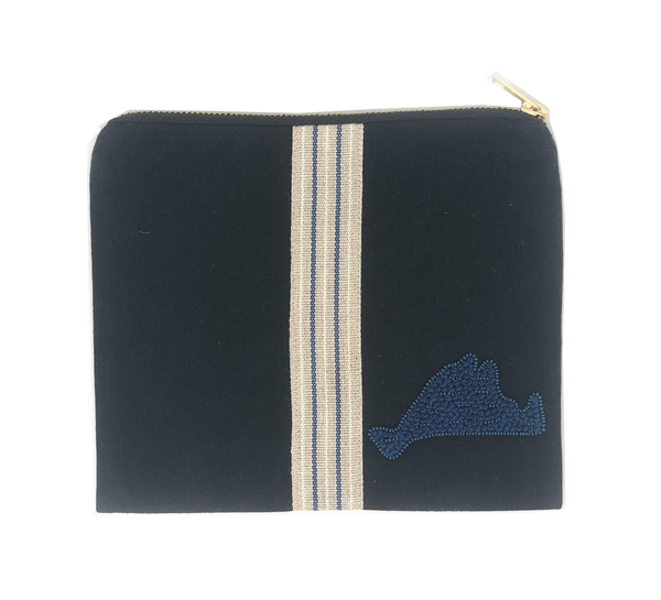 Citrus MV Pouch with Stripe - Navy