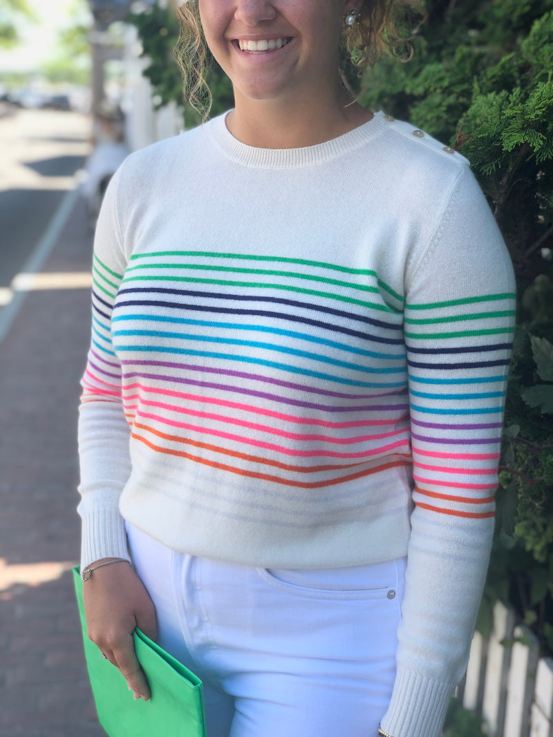 Jumper Rainbow Striped Crew
