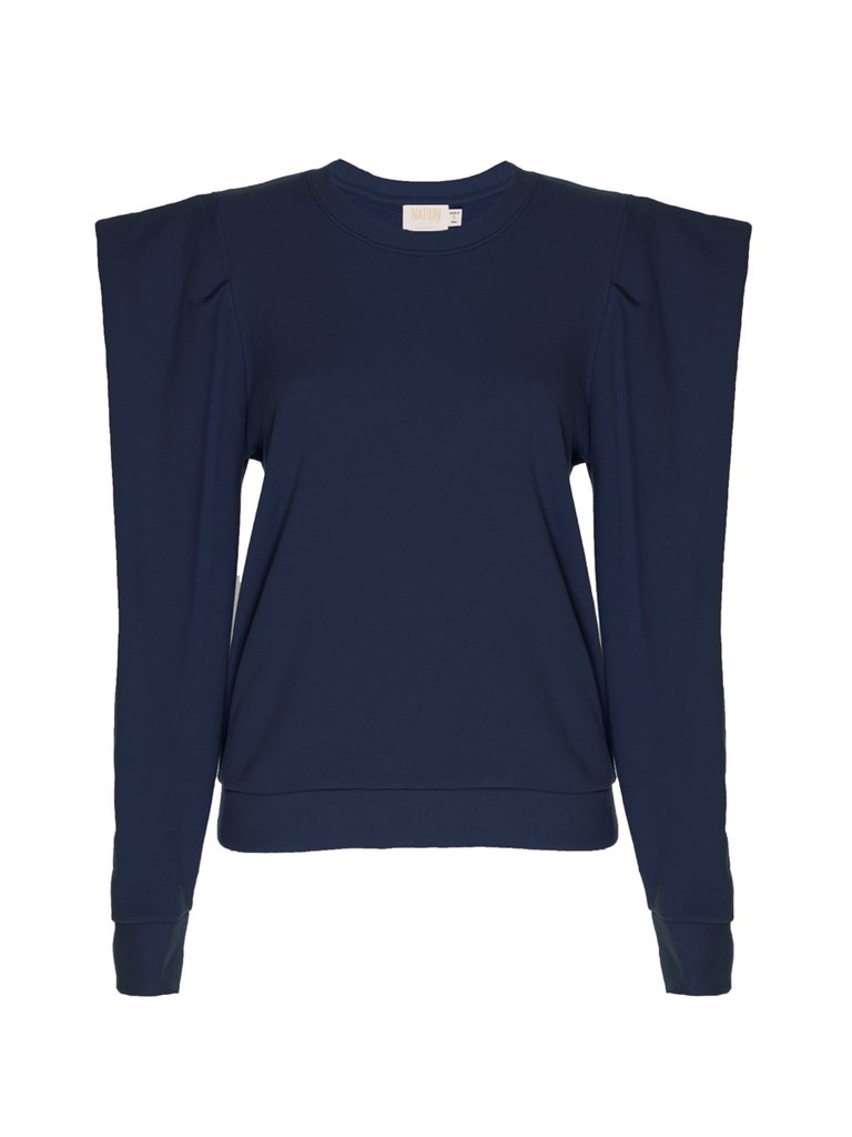 Joss Sweatshirt w/ Draped Sleeve