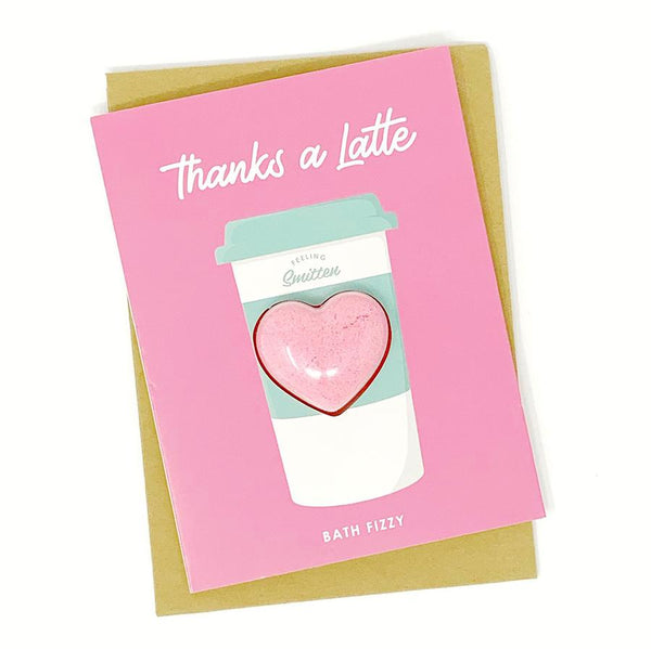Thanks A Latte Bath Fizzy Card