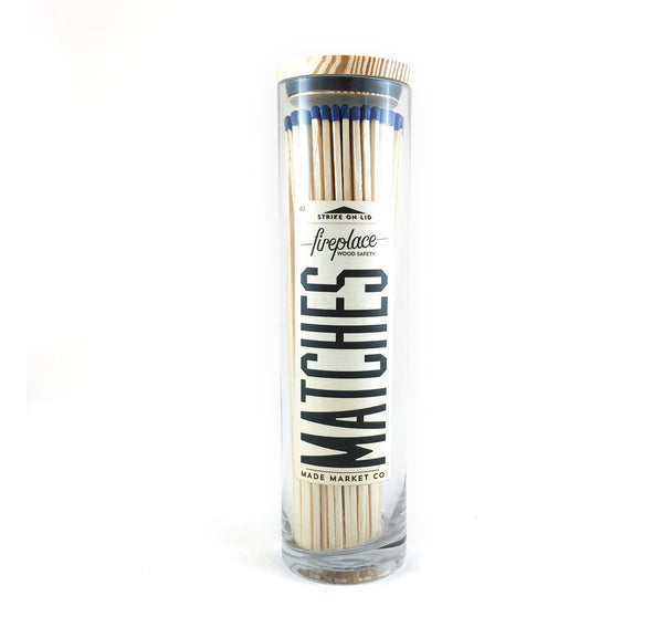 Made Market Co Fireplace Matches - blue