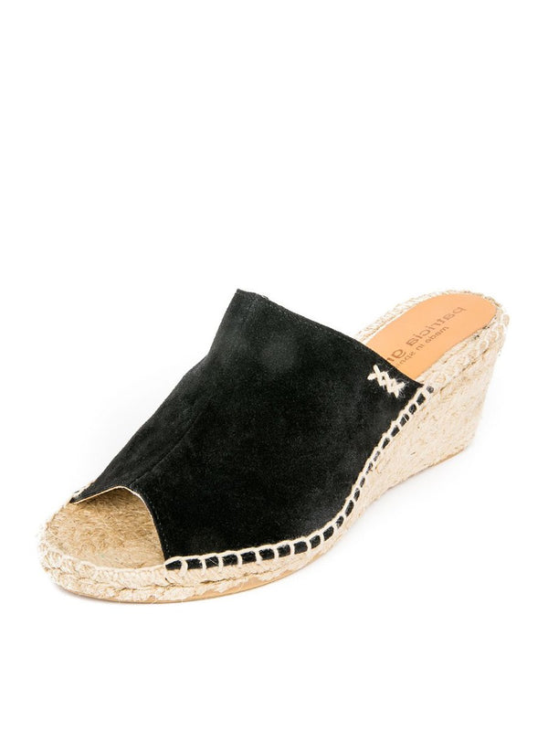 Patricia Green Shen Lambsuede Peep-Toe Espadrille