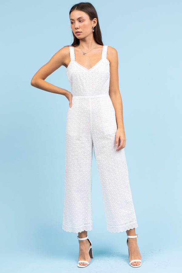 Le Lis Lace Tie Back Jumpsuit